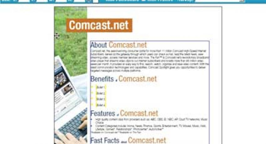 Multi-Channel Publishing Consulting for Comcast Cable Corporation   DPCI