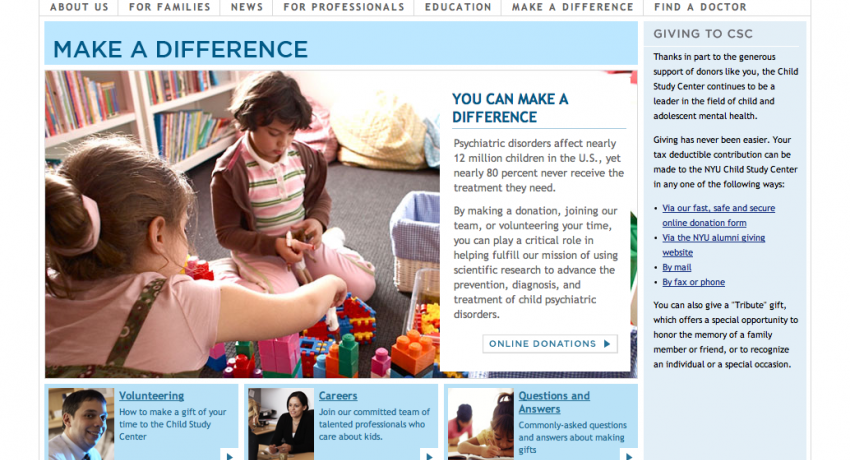 Drupal Consulting at NYU Langone Medical Center - Child Study Center